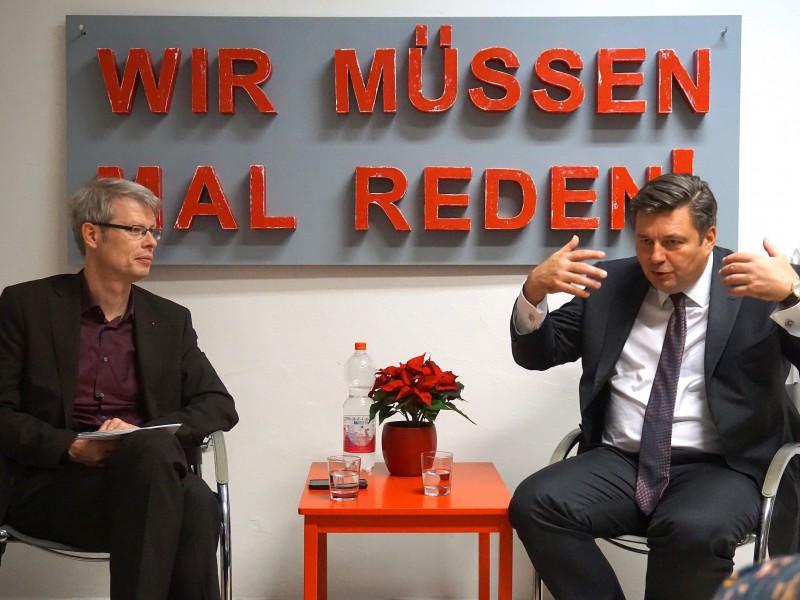 """Innensenator Andreas Geisel zu Gast bei """"Wir müssen mal reden!"""""""