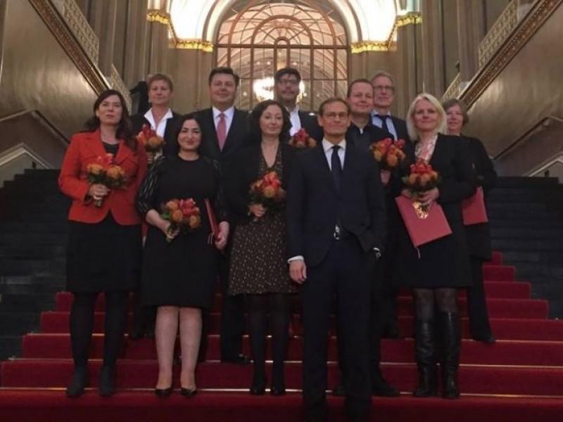 Neue und alte Gesichter - das Personaltableau der SPD im Berliner Senat