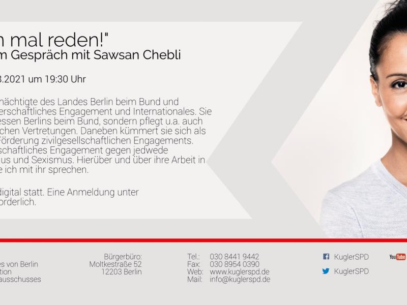 """""""Wir müssen mal reden!"""" mit Sawsan Chebli"""